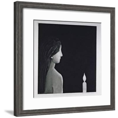The Candle, 1976-Evelyn Williams-Framed Giclee Print