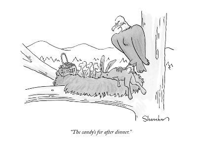 """""""The candy's for after dinner."""" - New Yorker Cartoon-Danny Shanahan-Premium Giclee Print"""