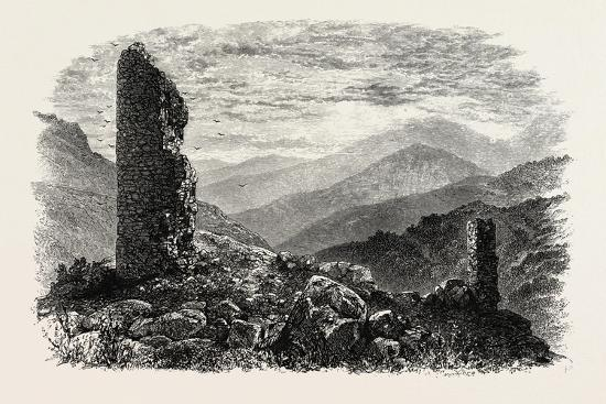 The Canigou, from Mont Louis, the Pyrenees, France, 19th Century--Giclee Print