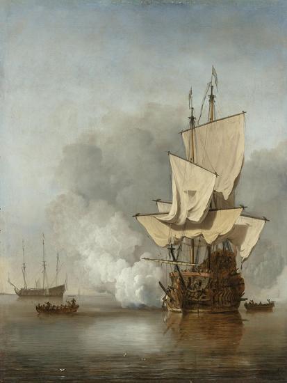 The Cannon Shot, c.1680-Willem Van De, The Younger Velde-Giclee Print