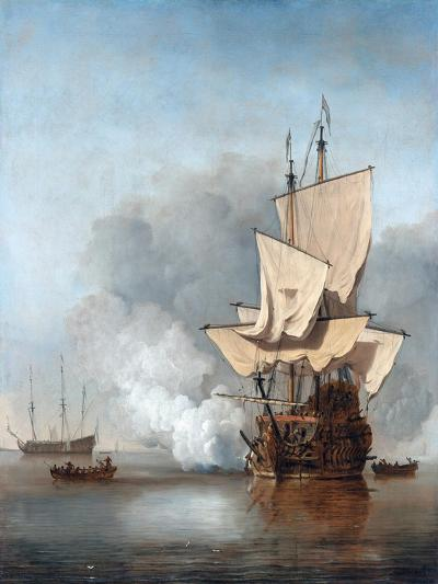 The Cannon Shot-Willem Van De Velde The Younger-Giclee Print