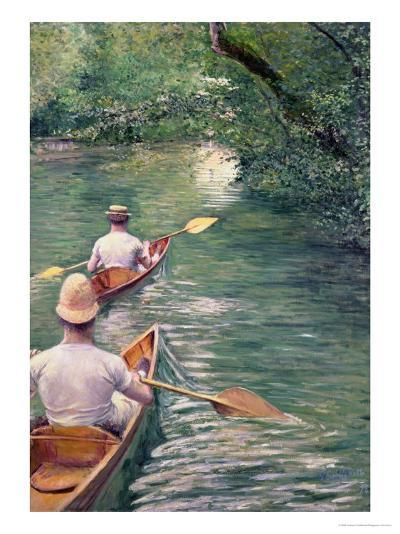 The Canoes, 1878-Gustave Caillebotte-Giclee Print