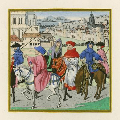 The Canterbury Pilgrimage, Late 15th Century-Henry Shaw-Giclee Print