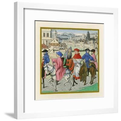 The Canterbury Pilgrimage, Late 15th Century-Henry Shaw-Framed Giclee Print