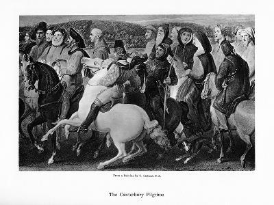 The Canterbury Pilgrims, 19th Century-Thomas Stothard-Giclee Print
