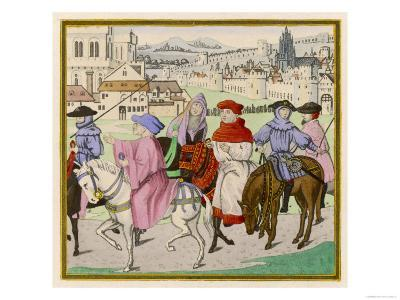 The Canterbury Pilgrims on the Road--Giclee Print