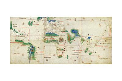 The Cantino Planisphere, 1502--Giclee Print