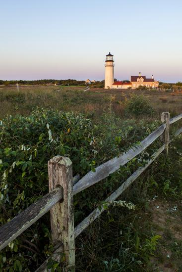 The Cape Cod Lighthouse,. Highland Light, in Truro, Massachusetts-Jerry and Marcy Monkman-Photographic Print