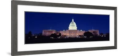 The Capitol at Nighttime--Framed Photographic Print