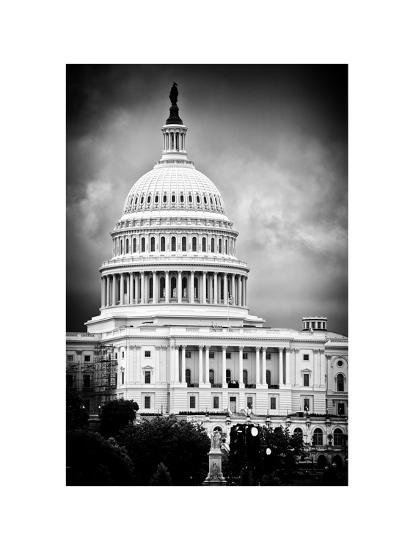 The Capitol Building, US Congress, Washington D.C, District of Columbia, White Frame-Philippe Hugonnard-Photographic Print