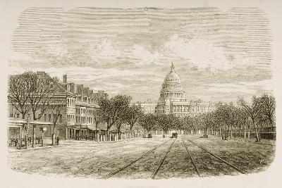 The Capitol Building, Washington Dc, C.1880-Reverend Samuel Manning-Giclee Print