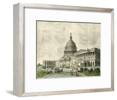 The Capitol, East Front--Framed Art Print
