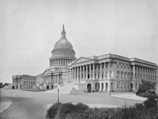 'The Capitol, Washington', 19th century-Unknown-Photographic Print