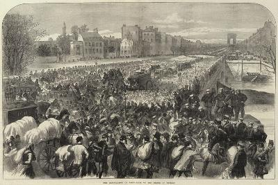 The Capitulation of Paris Scene on the Bridge of Neuilly--Giclee Print