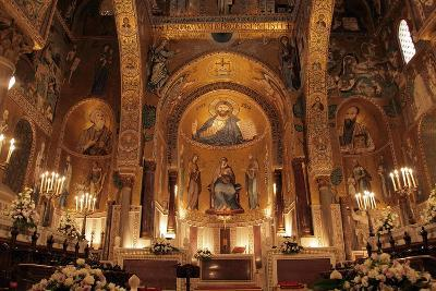The Cappella Palatina at the Palazzo Reale in Palermo Sicily--Giclee Print