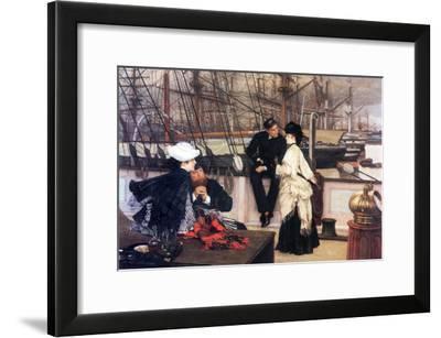 The Captain and His Girl-James Tissot-Framed Art Print