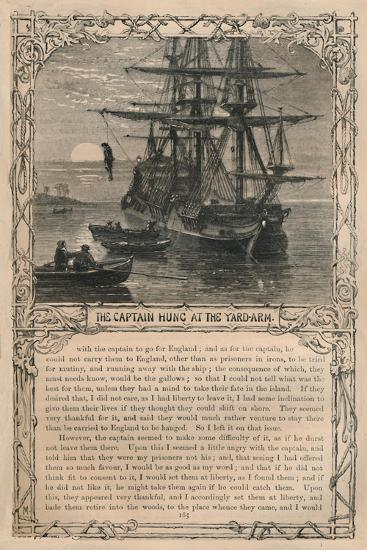 'The Captain Hung at the Yard-Arm', c1870-Unknown-Giclee Print
