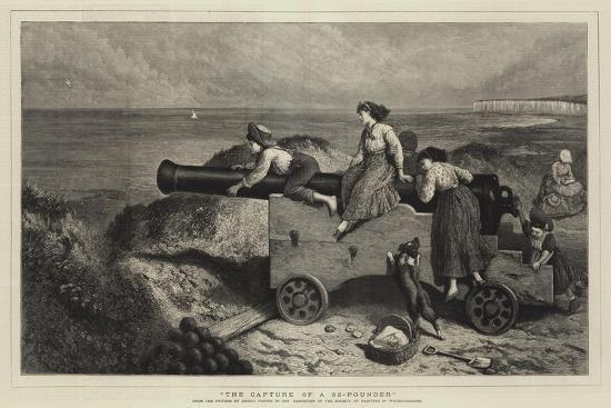 The Capture of a 32-Pounder-Myles Birket Foster-Giclee Print