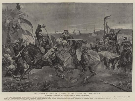 The Capture of Ping-Yang, in Corea, by the Japanese Army, 16 September--Giclee Print
