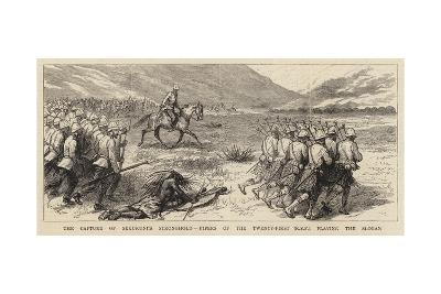 The Capture of Sekukuni's Stronghold, Pipers of the Twenty-First (R S F) Playing the Slogan--Giclee Print