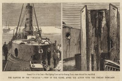 The Capture of the Huascar, View of the Vessel after the Action with Chilian Ironclads--Giclee Print