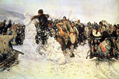 The Capture of the Snow Fortress, 1891-Vasilii Ivanovich Surikov-Giclee Print