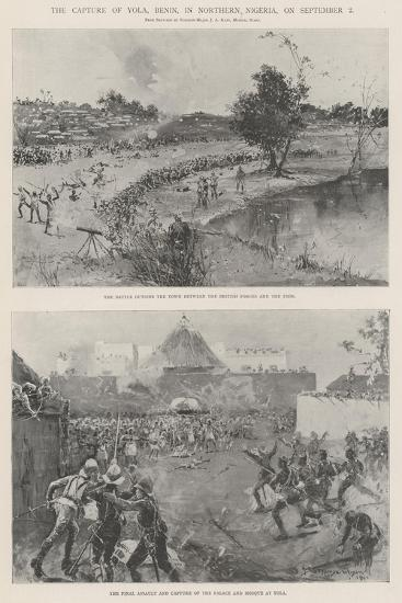 The Capture of Yola, Benin, in Northern Nigeria, on 2 September-Henry Charles Seppings Wright-Giclee Print