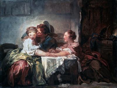 The Captured Kiss, Late 18th Century-Jean-Honore Fragonard-Giclee Print