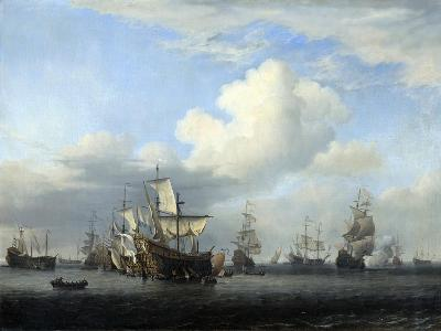 The Captured 'Swiftsure, 'Seven Oaks, 'Loyal George' and 'Convertine..., C1666-Willem Van De Velde The Younger-Giclee Print