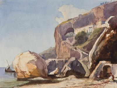 The Capuchin Monastery at Amalfi from the Beach-Giacinto Gigante-Giclee Print