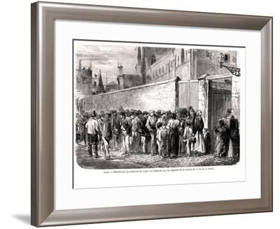 """The Capuchins of Rue De La Sante Distributing the Daily Soup to the Poor, from """"Le Monde Illustre""""--Framed Giclee Print"""