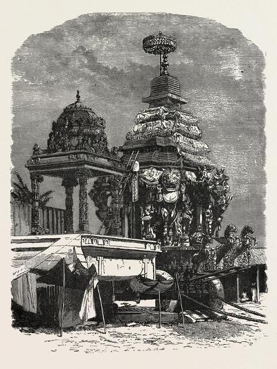 The Car of Juggernaut. Hindu Ratha Yatra Temple Car--Giclee Print