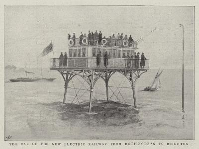 The Car of the New Electric Railway from Rottingdean to Brighton--Giclee Print
