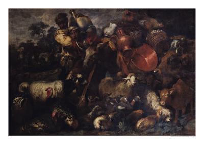 The Caravan-Giovanni Benedetto Castiglione-Giclee Print