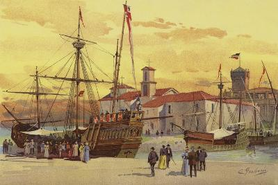 The Caravels and La Rabida--Giclee Print