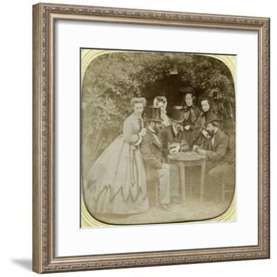 The Card Game, C1850--Framed Giclee Print