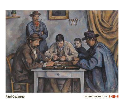 The Card Players, 1890-1892-Paul Cezanne-Art Print
