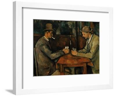 The Card Players, 1890-95-Paul C?zanne-Framed Giclee Print