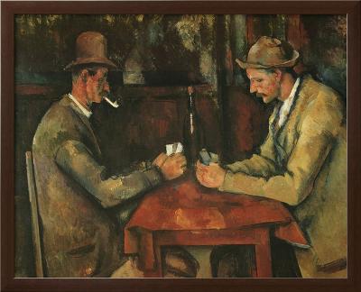 The Card Players-Paul C?zanne-Framed Textured Art