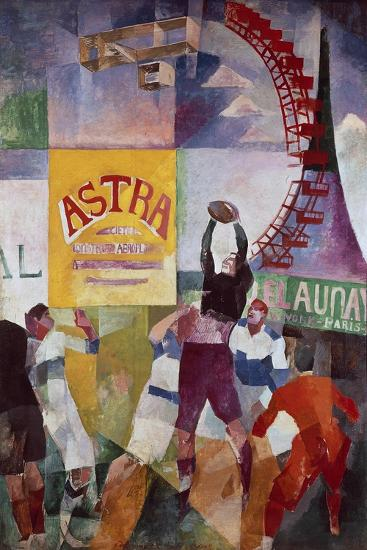 The Cardiff Team, 1912-13-Robert Delaunay-Giclee Print