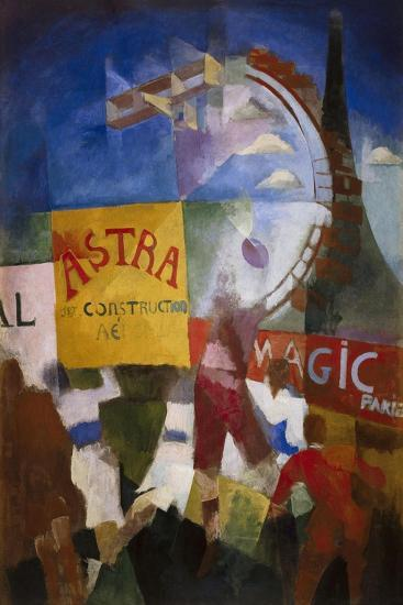 The Cardiff Team-Robert Delaunay-Art Print