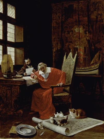 The Cardinal's Leisure-Charles Edouard Delort-Giclee Print