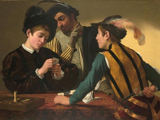 The Cardsharps-Caravaggio-Giclee Print