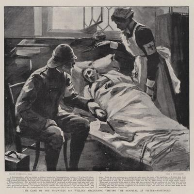 The Care of the Wounded, Sir William Maccormac Visiting the Hospital at Pietermaritzburg-Sydney Prior Hall-Giclee Print
