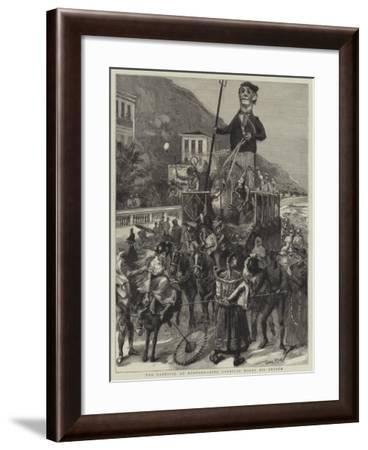 The Carnival at Mentone, King Carnival Makes His Entree-Sydney Prior Hall-Framed Giclee Print