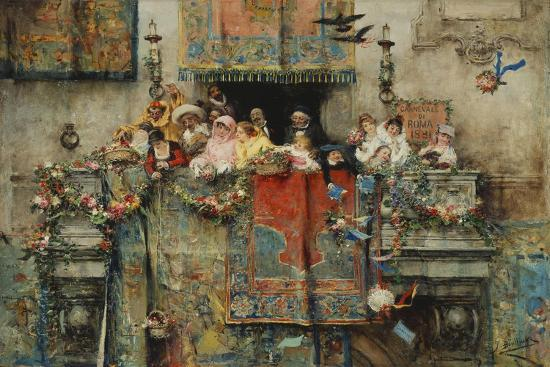 The Carnival in Rome; Il Carnevale Di Roma, 1881-Jose Benlliure Y Gil-Giclee Print