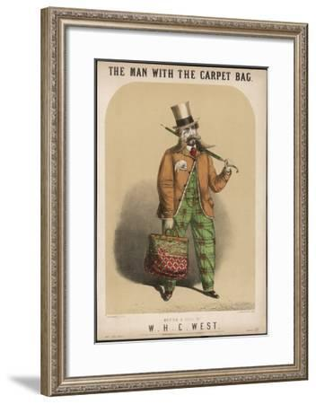 The Carpet Bag Is a Symbol of the Travelling Salesman--Framed Giclee Print