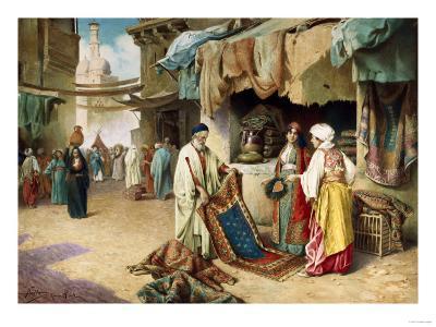 The Carpet Seller-Federico Ballesio-Giclee Print