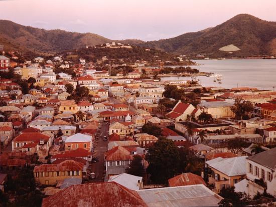 The Carribean: Low Aerials of Charlotte Amalie Capital of St Thomas-Eliot Elisofon-Photographic Print