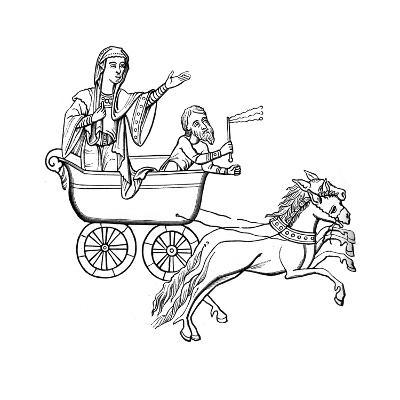 The Carruca, 9th Century--Giclee Print
